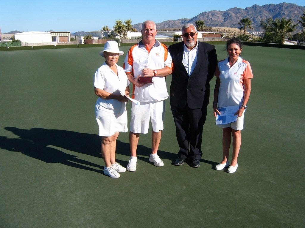 Winners , Ruth Compton,David Malatynski, Sponsor Brian White, Maria Morley