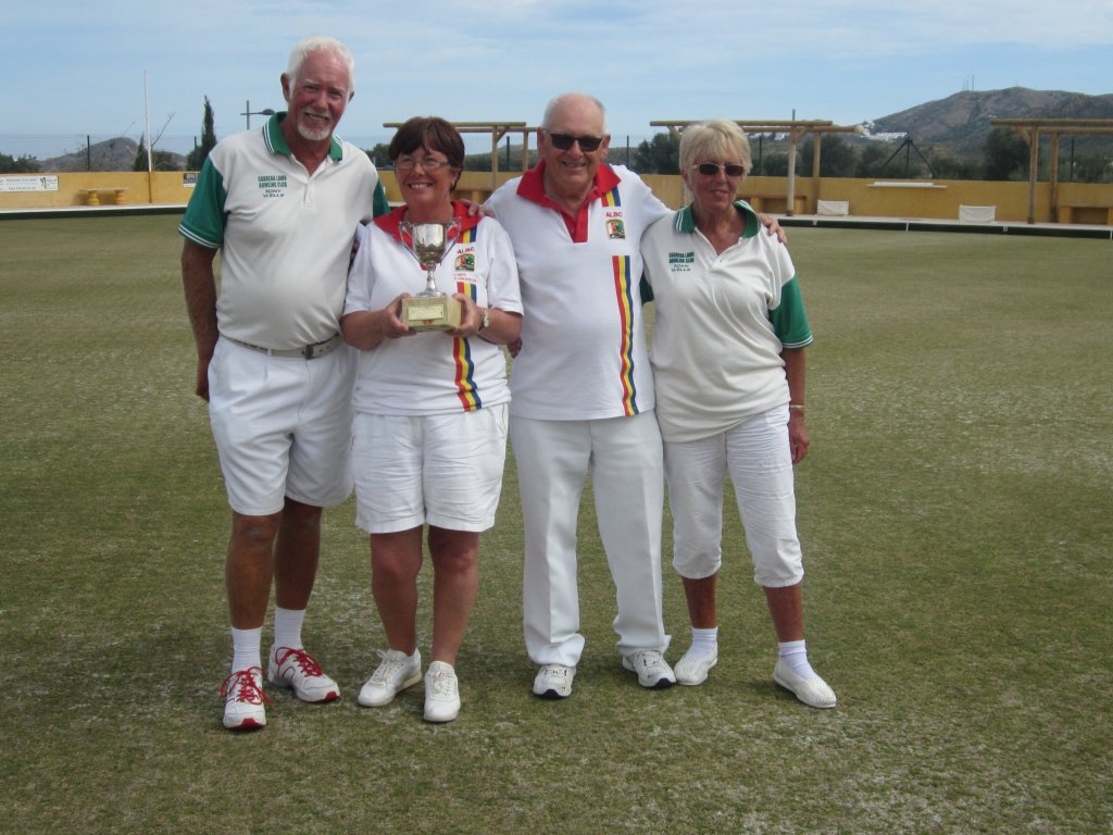 Finalists Tony Wells Christine Parkinson Reg Birmingham and Joan Wells