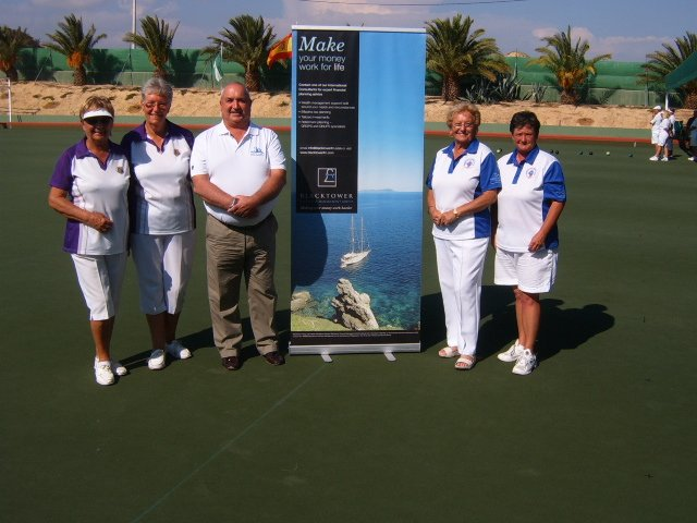 Ladies Pairs Finalists D.Calquhoun and M Holmes P.Fisher and S Morgan
