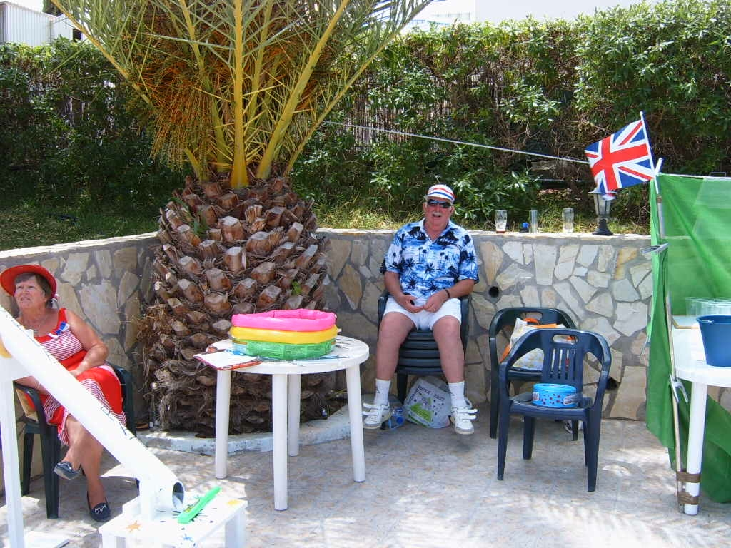 Ron relaxing doing the charity bit