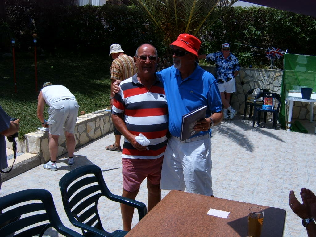 Jim presenting the Jubilee Book to Derek Weeks the winner of the competition