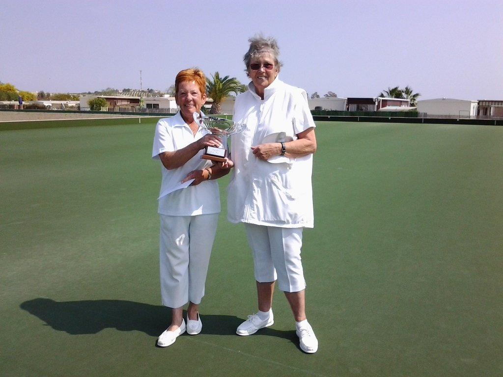 CALB Ladies Pairs Winners Janie Leggate & Doreen Hall  s